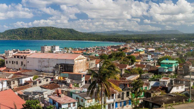 An aerial view of Baracoa, Cuba