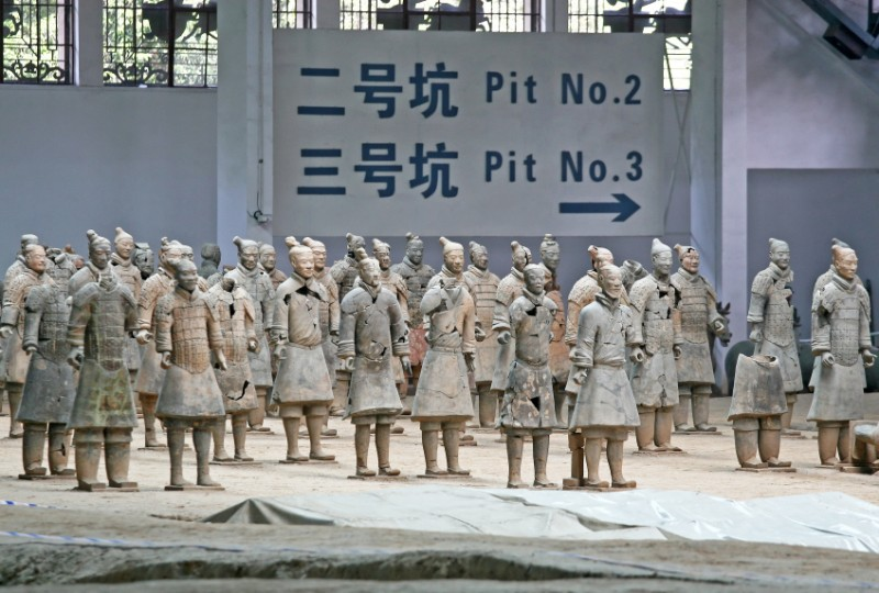 The terracotta army at Xi'an
