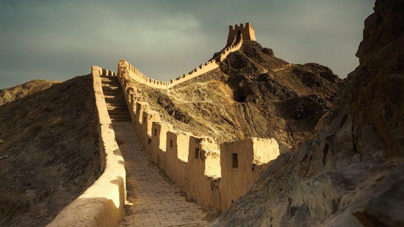 The Great Wall at Jiayuguan, China