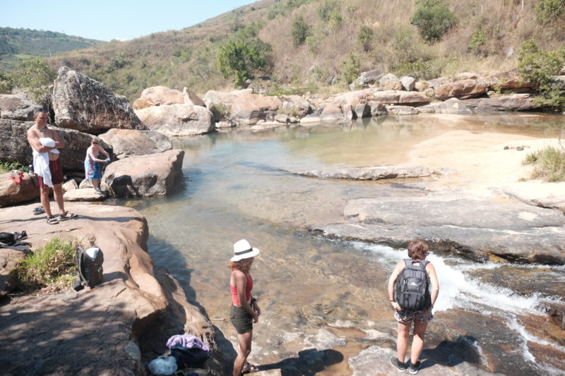 Solo travel Colombia San Gil swimming hole