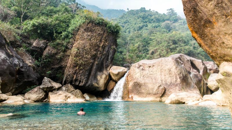Natural swimming pools at Nongriat