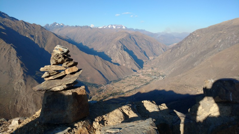 Looking out over the valley in Peru