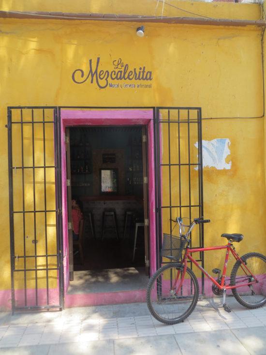 Mezcaleria in Oaxaca Mexico
