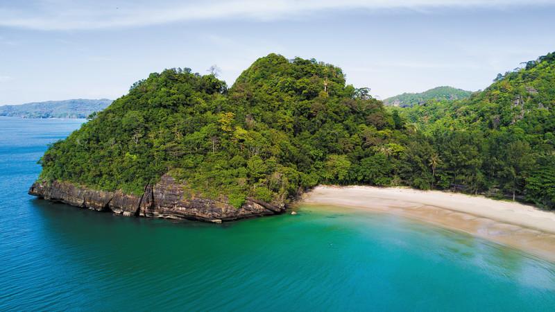 A lush island in Thailand