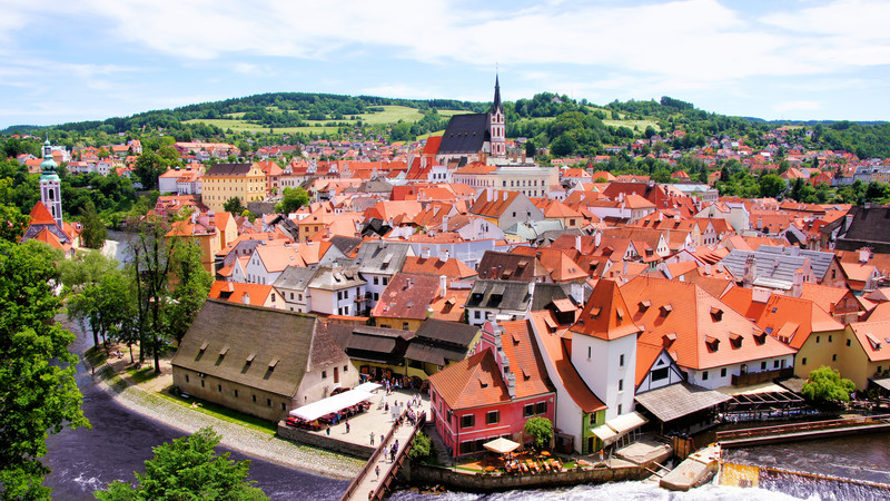 The red rooftops of Cesky Krumlov