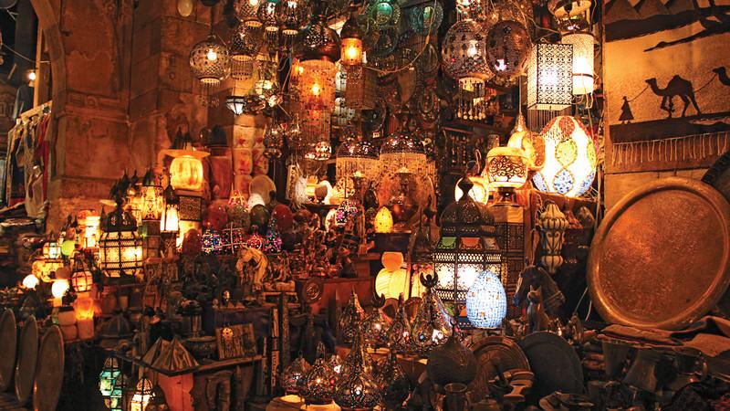 Lamps in an Egyptian bazaar