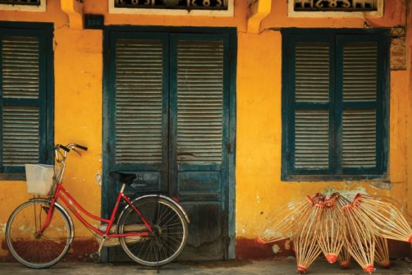 Yellow bike in Hoi An
