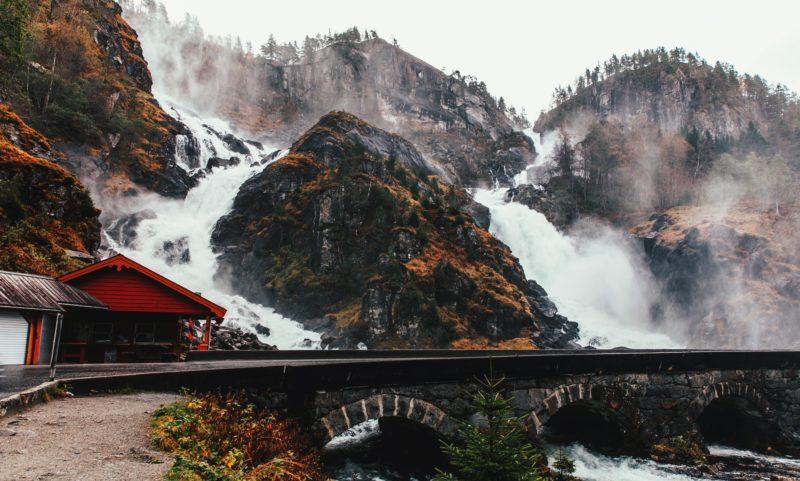 Norway Nature Latefossen waterfall