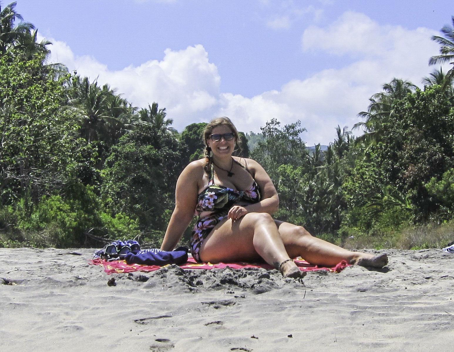 plus size travel Southeast Asia Indonesia beach