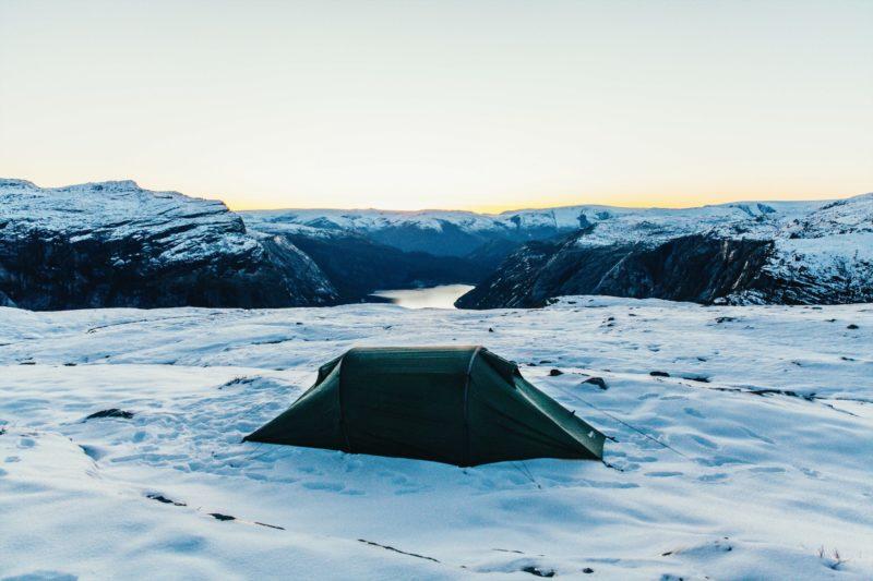 Norway nature Trolltunga camping