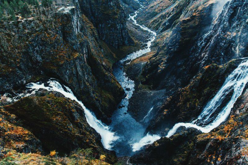 Norway nature Voringsfossen waterfall