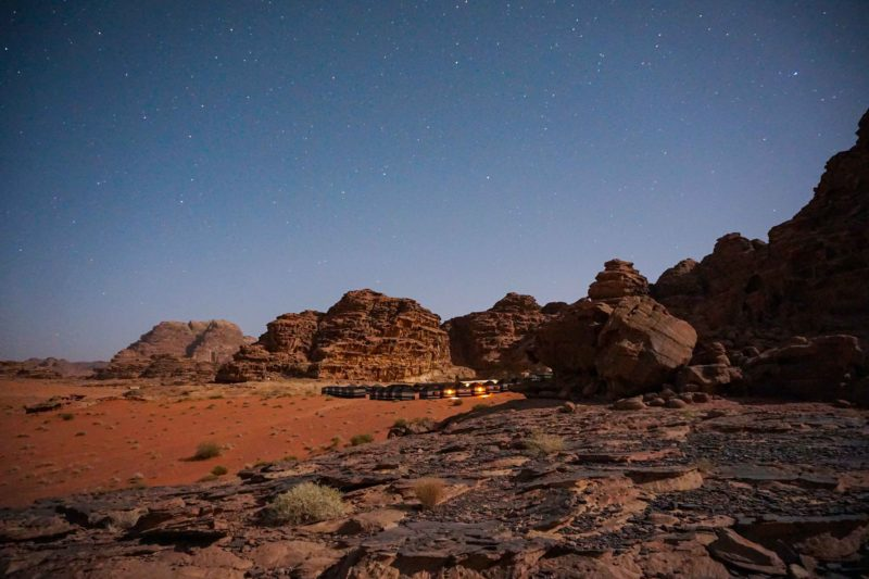 Jordan week guide Wadi Rum night