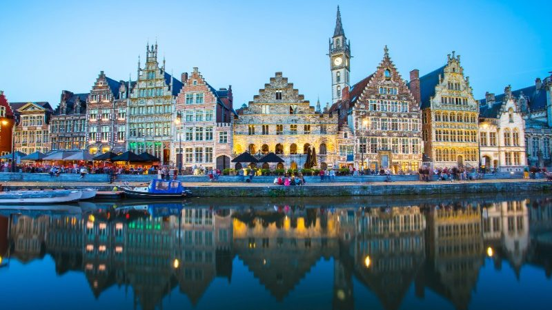 Colourful buildings in Ghent, Belgium