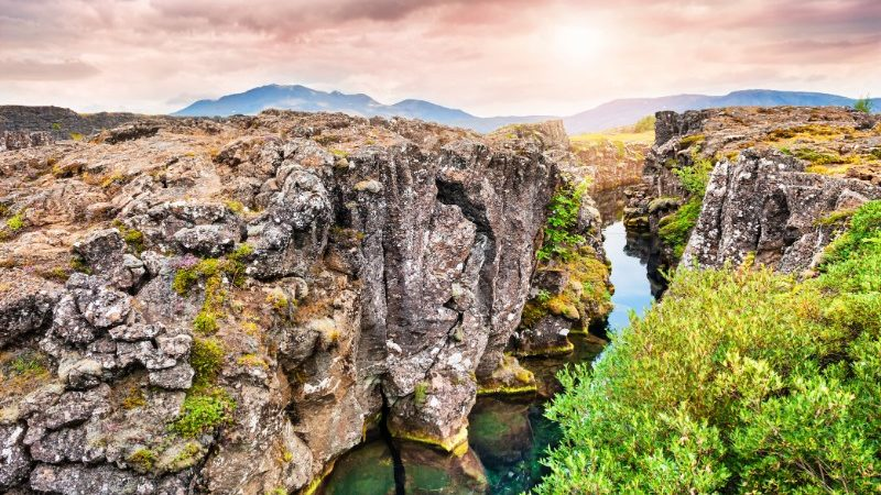Thingvellir National Park in the summer months