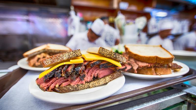 Reuben sandwich from Katz's Delicatessen
