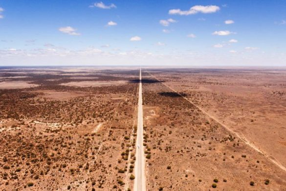 Road through the Australian Outback