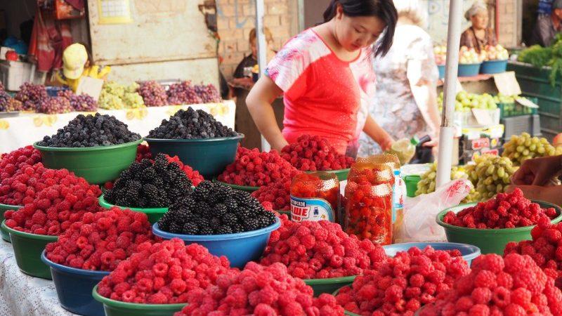 Berries at the Osh Bazaar