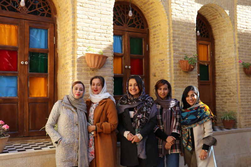 female tour guide Iran