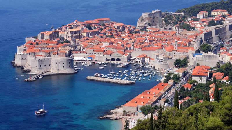 Looking over Dubrovnik, Croatia