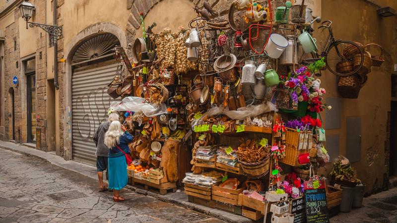Italy photos Florence shopping