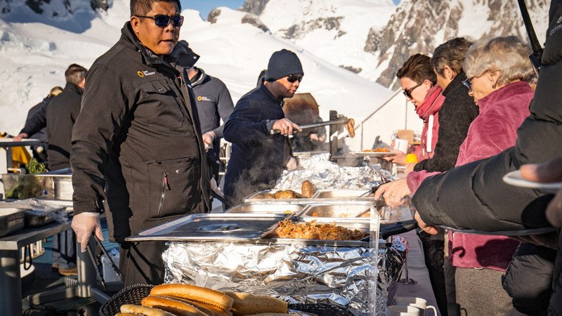A barbecue in Antarctica