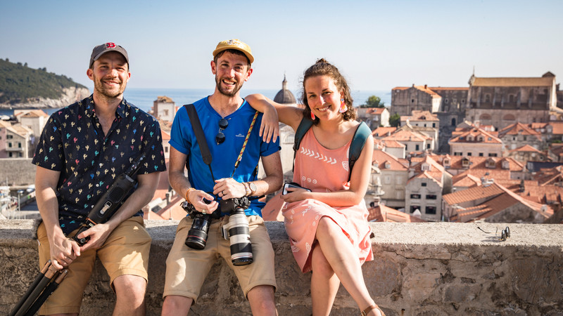 Three travellers in Dubrovnik
