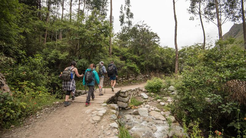 Trekkers on the Inca Trail, Peru