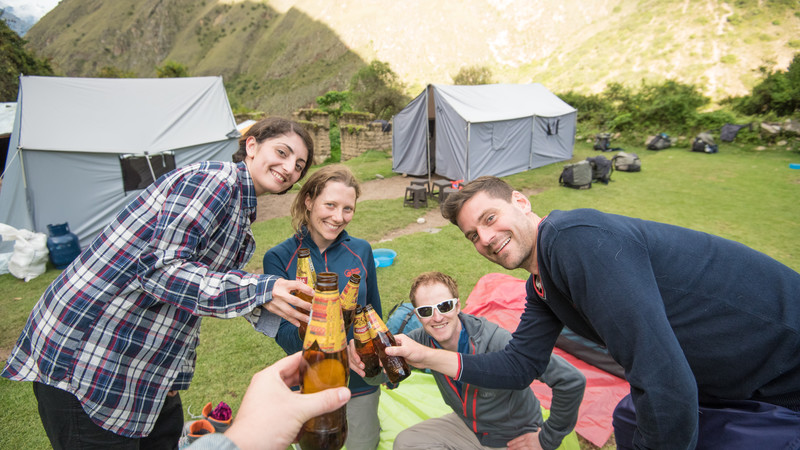 A group of travellers on the Inca Trail