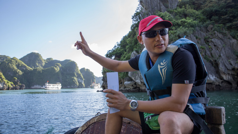 Intrepid leader in Halong Bay