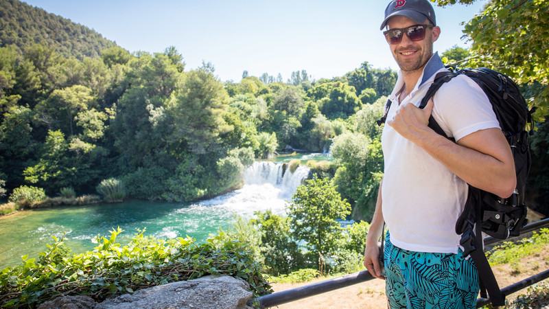 Traveller at Krka National Park, Croatia
