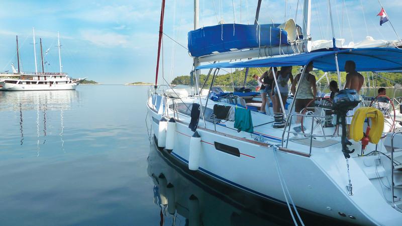 Sailing boat in Croatia