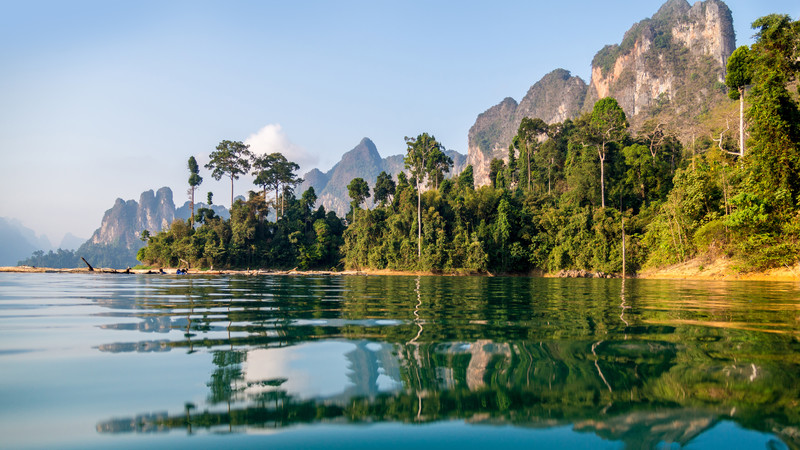 Cheow Lan Lake in Khao Sok National Park, Thailand