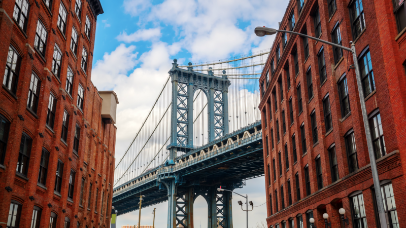 Manhattan Bridge as seen from DUMBO, New York