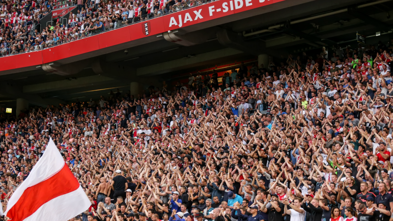 Ajax crowds at the Amsterdam Arena