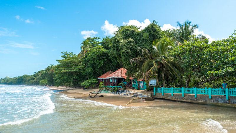 Beach and jungle in Cahuita National Park, Costa Rica