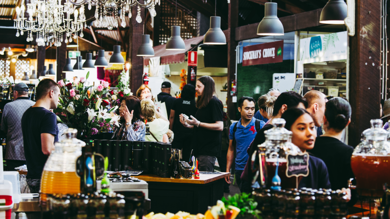 Stalls in Fremantle Market