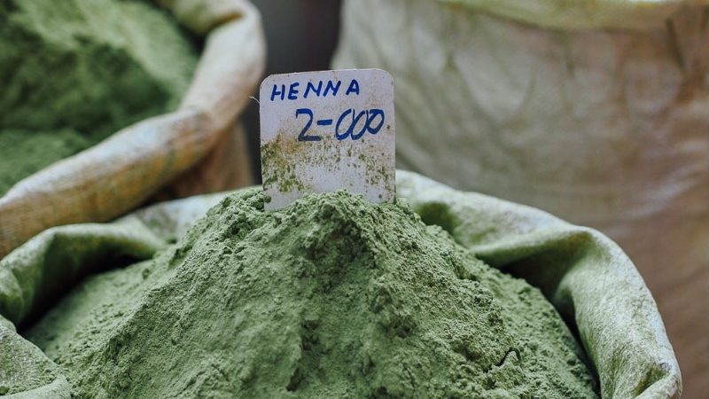 A bowl of henna for sale