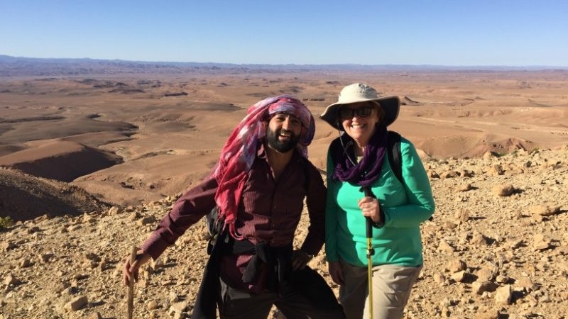 Linda and her guide in Morocco