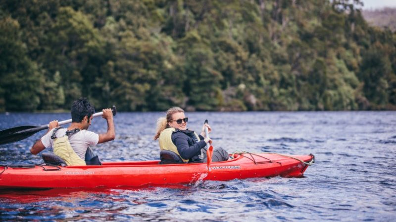 Kayaking on the Pieman River, Tasmania