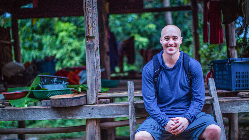 A traveller at a Cambodian homestay