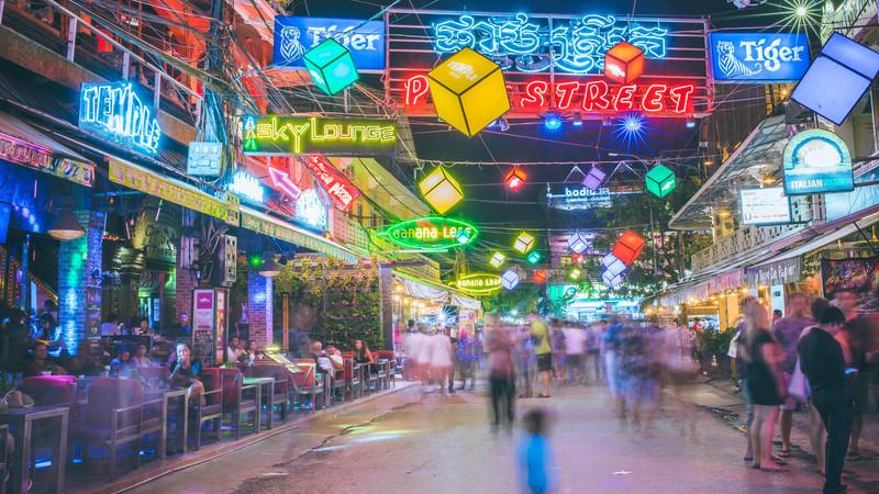 Cambodia tour Pub Street Siem Reap