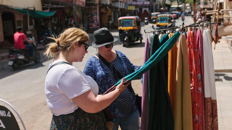 Udaipur India shopping