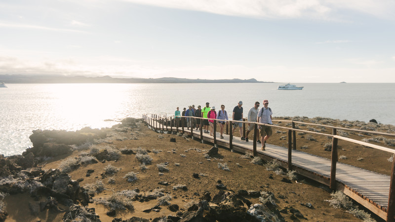 sustainable travel galapagos islands group hiking