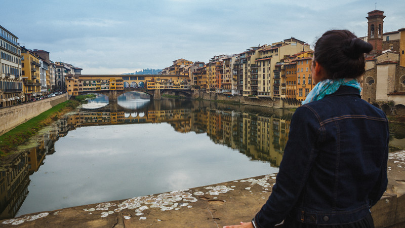 solo travel Italy Ponte Vecchio Florence