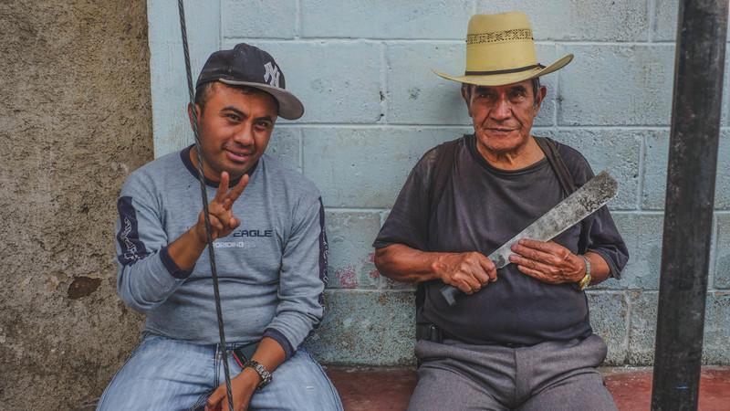 Two local men in Guatemala