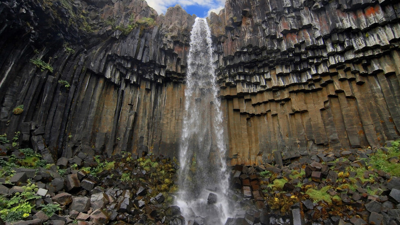 Iceland south coast guide Svartifoss