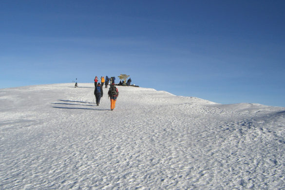 Hikers on Mt Kilimanjaro, Tanzania