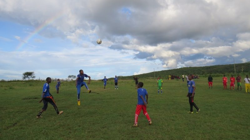 Soccer training in Tanzania