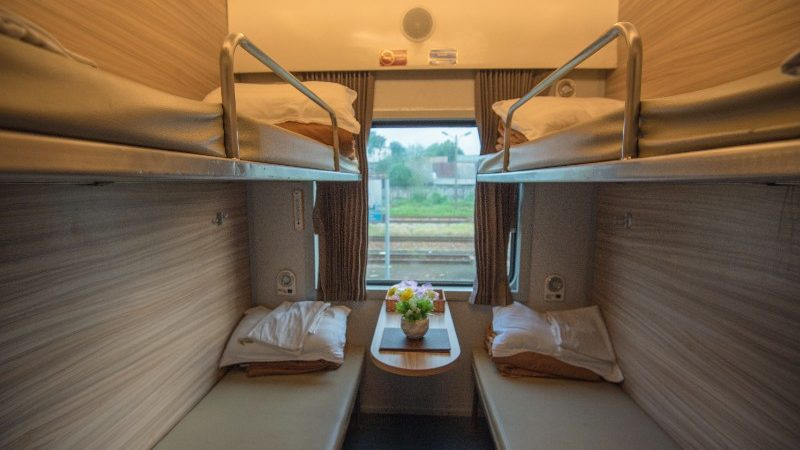 A typical cabin on the overnight train