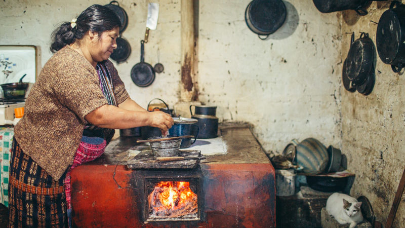 Cooking at the homestay in Guatemala